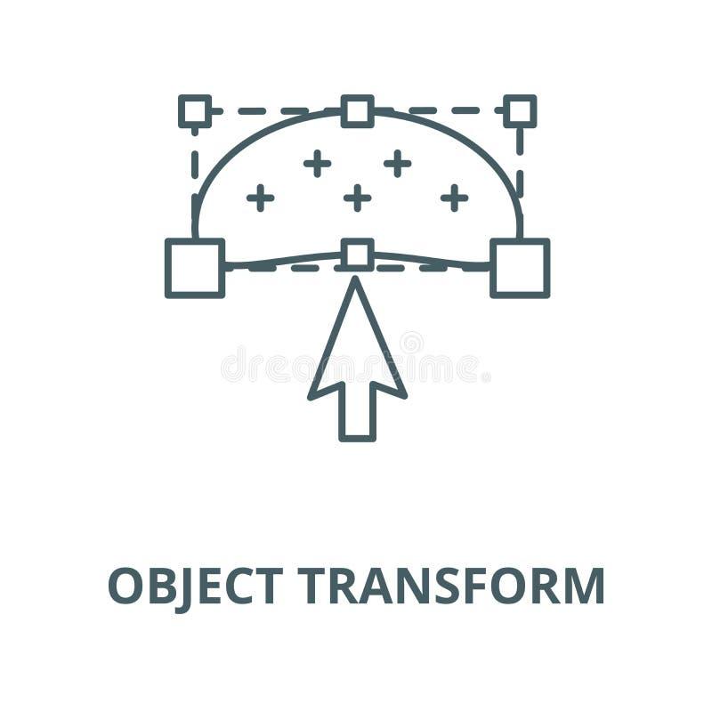 Objecten pictogram van de transformatie het vectorlijn, lineair concept, overzichtsteken, symbool vector illustratie