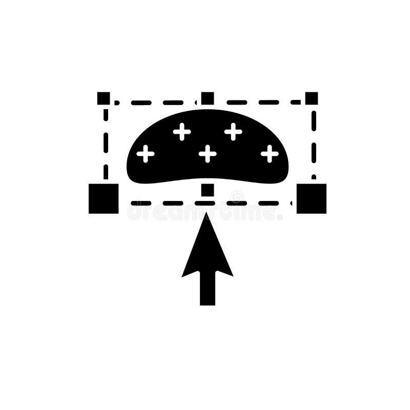 Objectez pour transformer l'icône noire, dirigez pour se connecter le fond d'isolement L'objet transforment le symbole de concept illustration libre de droits