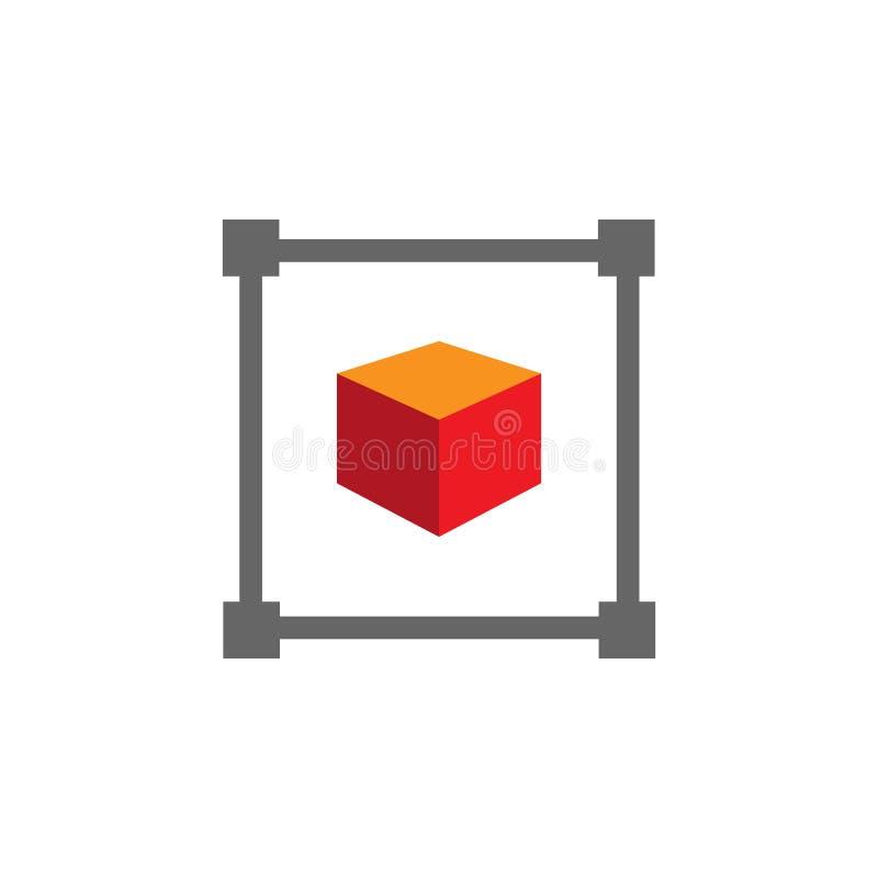Objectez, saisissez l'icône Élément d'icône de Desing de Web pour des applis mobiles de concept et de Web L'objet détaillé, saisi illustration libre de droits