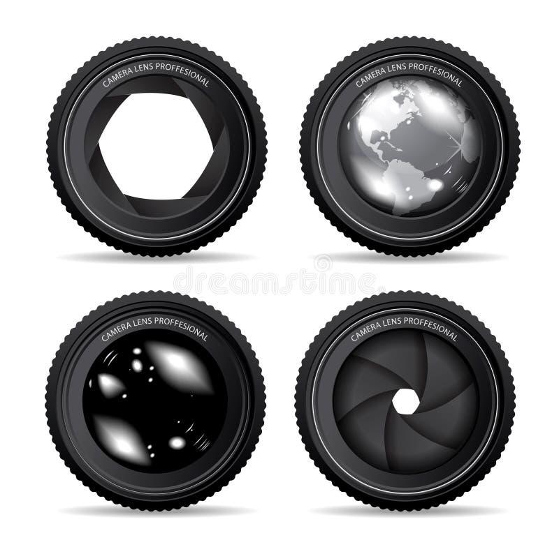 Objectif de caméra illustration stock