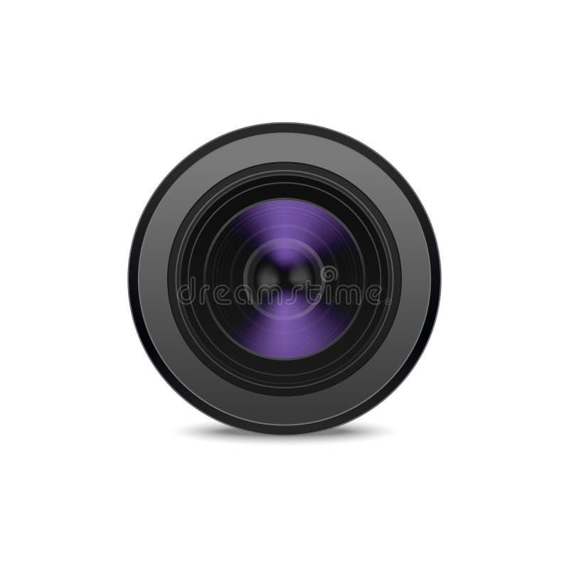 Objectif de caméra 3d détaillé réaliste Vecteur illustration libre de droits