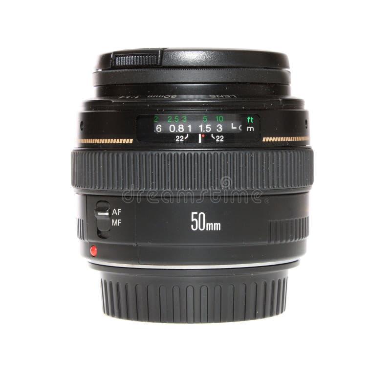 Objectif de caméra, d'isolement. image stock