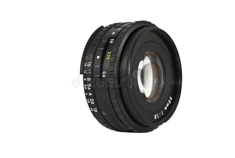objectif de caméra de 50mm image libre de droits