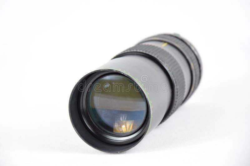 Objectif de caméra de macro du vintage 80-200mm - d'isolement photographie stock