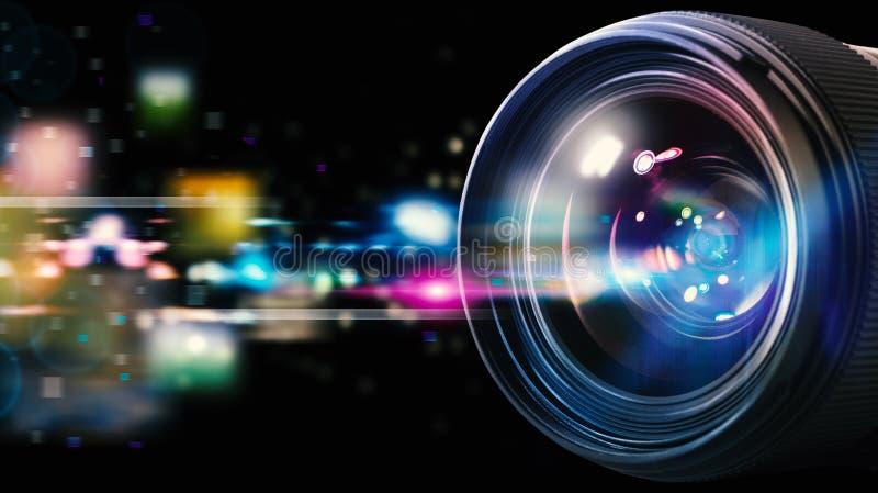 Objectif de caméra professionnel photographie stock libre de droits