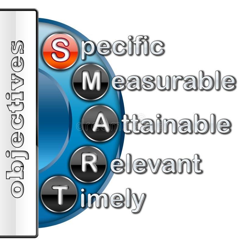 Objectifs intelligents illustration stock
