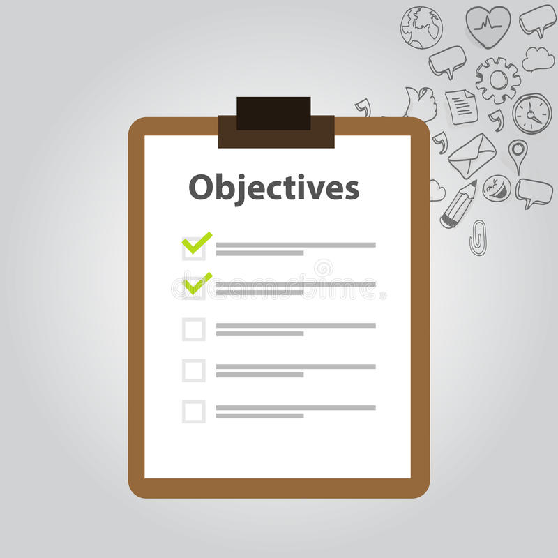 Objective board goal check list. Icon goal vector illustration