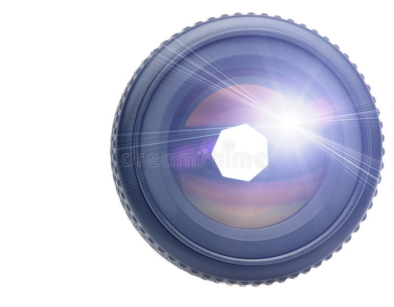Download Objective with light ray stock photo. Image of macro, black - 7397254