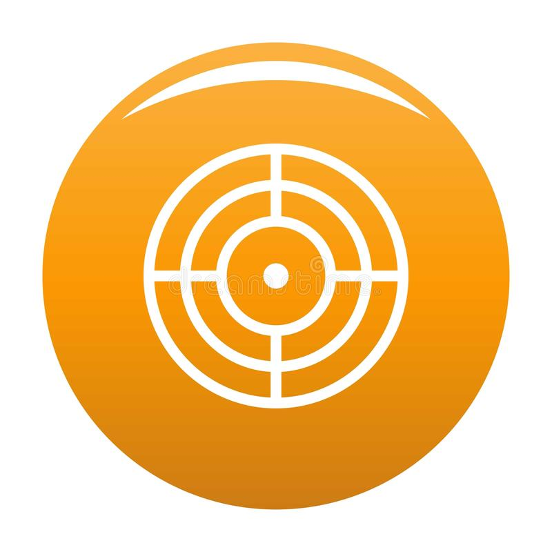 Objective of target icon vector orange. Objective of target icon. Simple illustration of objective of target vector icon for any design orange stock illustration