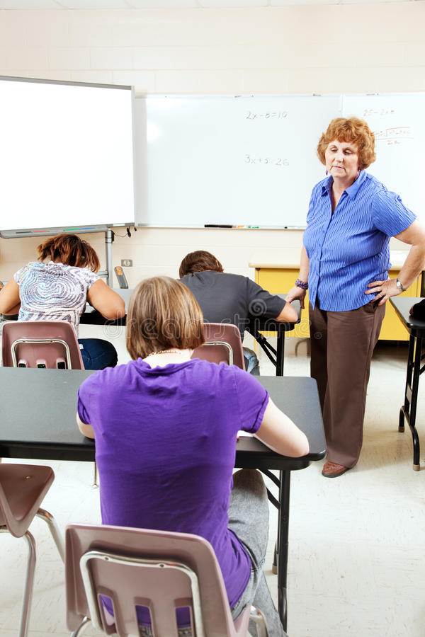 Download Objective Testing In High School Stock Image - Image: 26092193