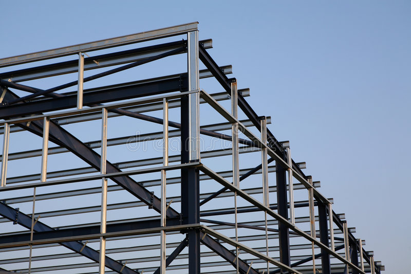 Objecto metálico estrutural fotos de stock royalty free