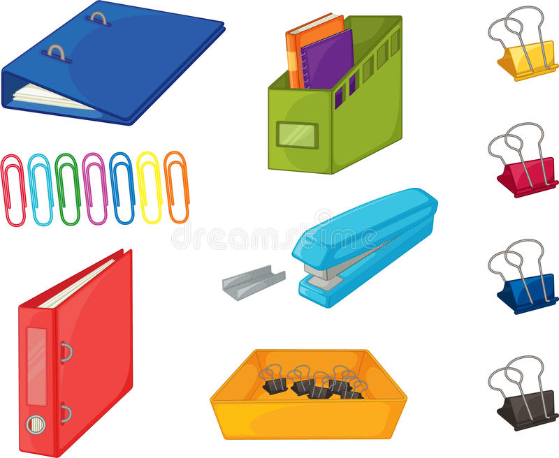 Download Objects stock vector. Image of sketch, binder, clips - 11519625
