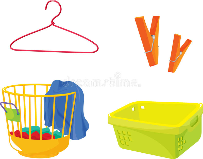 Objects. Illustration of various objects on white royalty free illustration