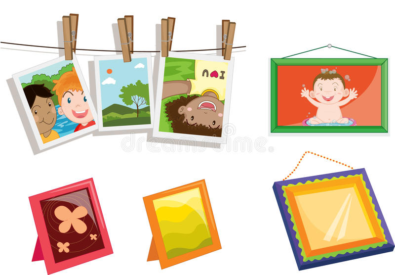 Objects. Illustration of various objects on white vector illustration