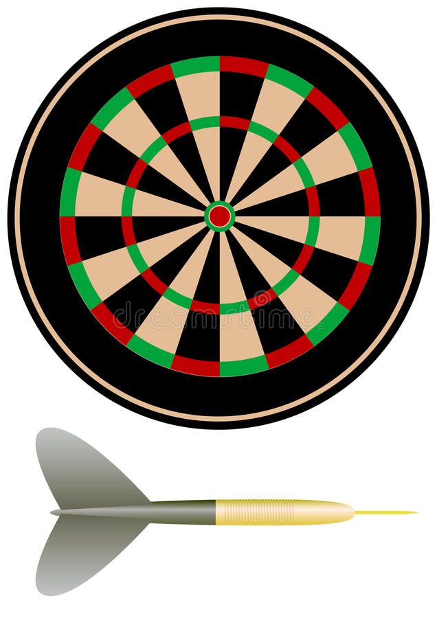 Download Objects for darts stock vector. Illustration of hitting - 12398176