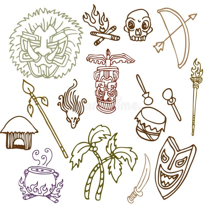 objects den stam- urinnevånaren royaltyfri illustrationer