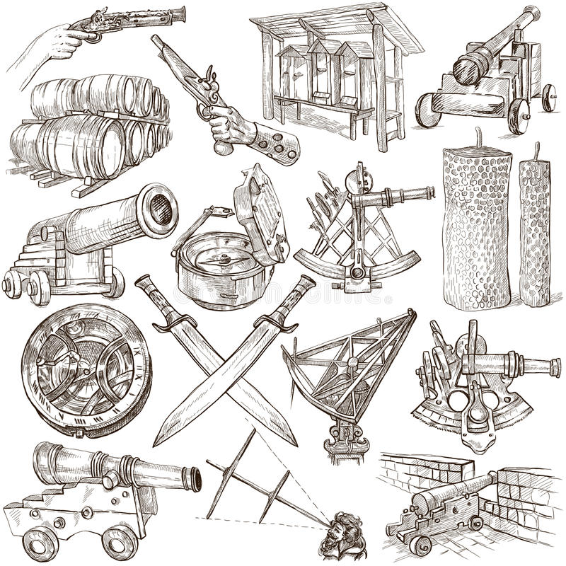 Free Objects - Hand Drawings, Originals Stock Image - 52812881