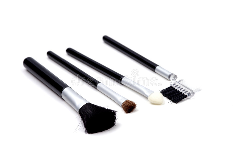 Objects - Make-up Brushes royalty free stock photo