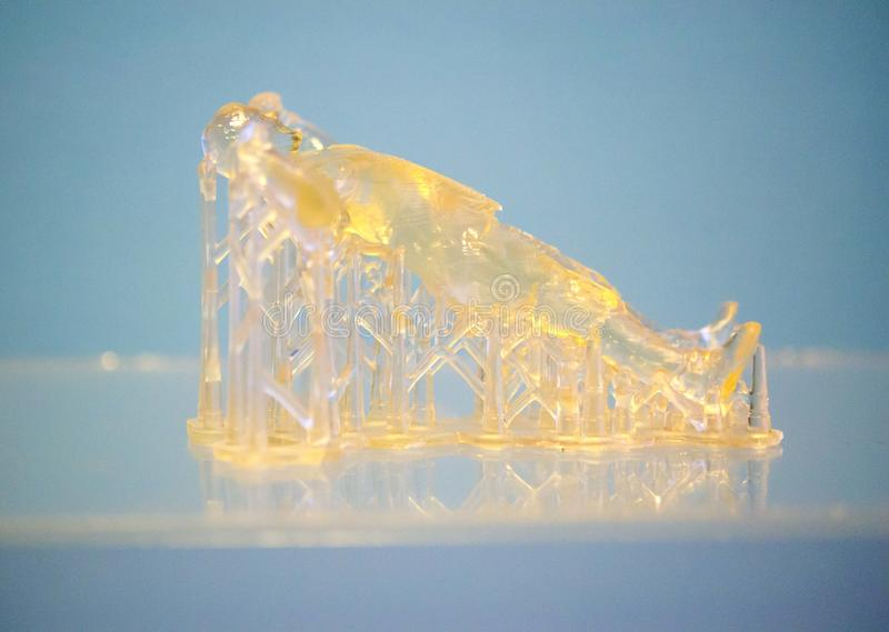 Objects photopolymer printed on a 3d printer. royalty free stock images