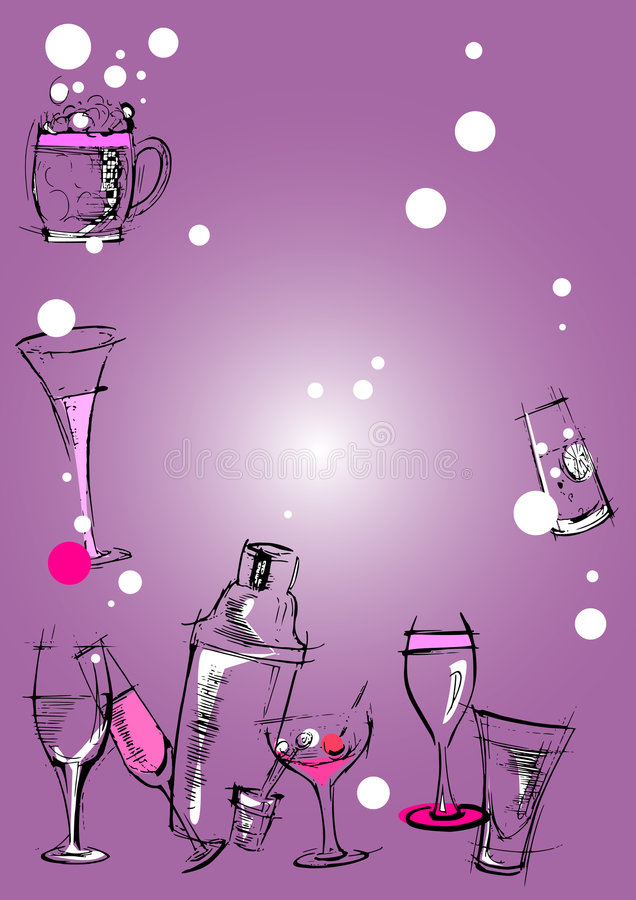 Download Glasses Background Cartoon stock vector. Image of cups - 8824649