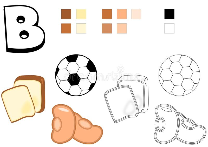 Objects spelled with letter b drawing template for children stock download objects spelled with letter b drawing template for children stock image image 49657867 pronofoot35fo Image collections