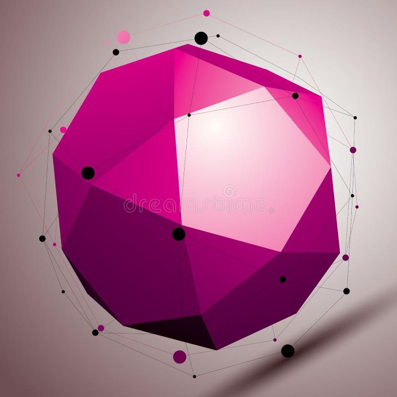 objekt för abstrakt begrepp för modern stil för ingrepp 3D ljust, origamifutur vektor illustrationer