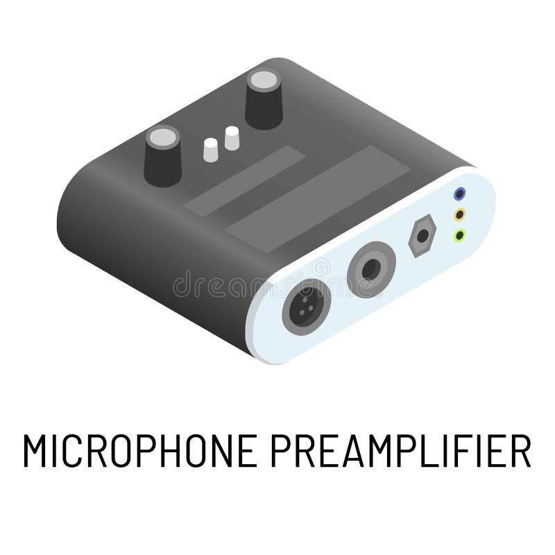 Objekt för bearbeta för signal för elektronisk apparat för mikrofonförförstärkare isolerat vektor illustrationer