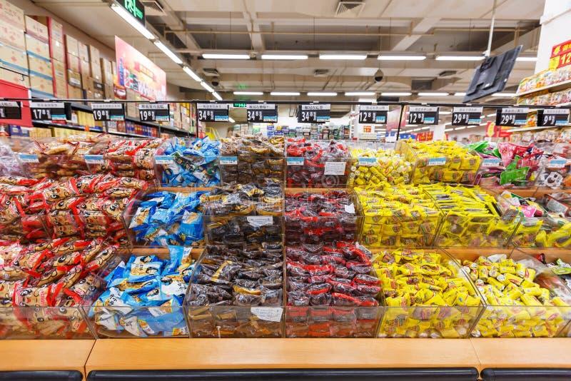Objekt för detaljhandel för Kina hangzhou wal-marknad supermarket fotografering för bildbyråer