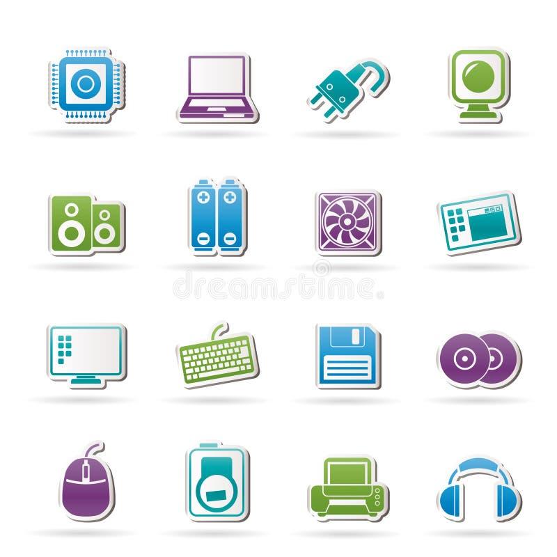 objekt för tillbehördatorsymboler royaltyfri illustrationer