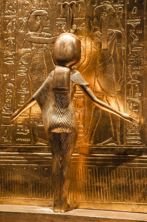 Objekt från gravvalvet av Tutankhamen royaltyfria bilder