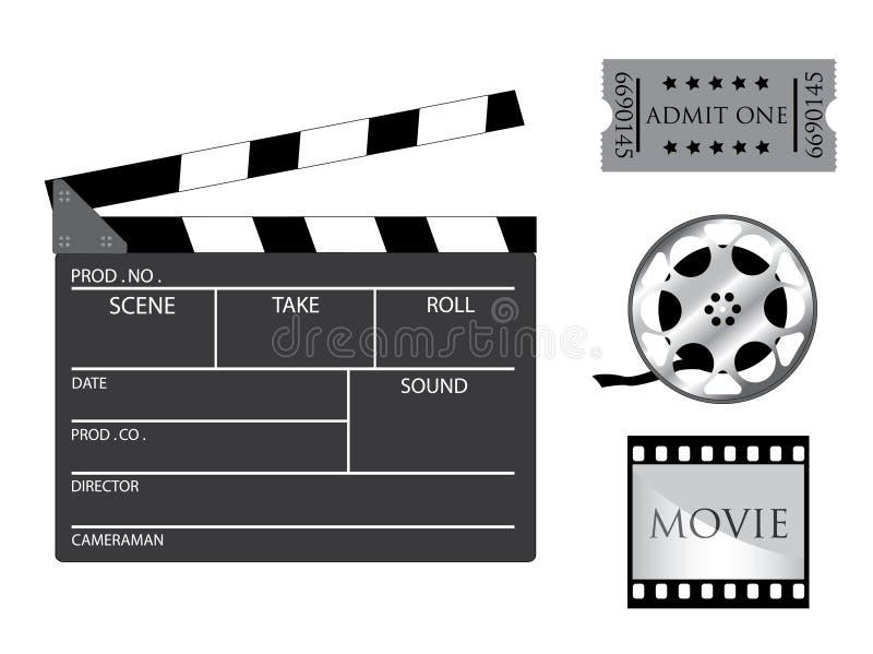 objektfilm vektor illustrationer