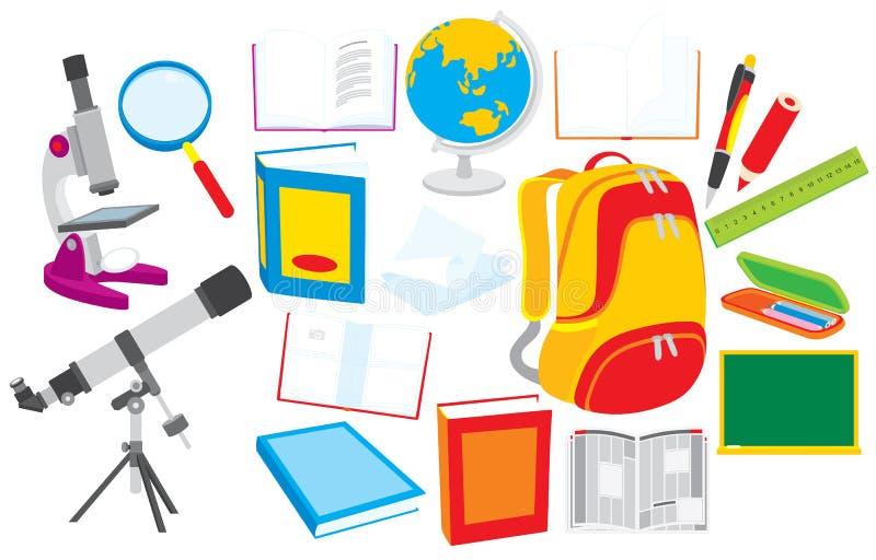 objektskola royaltyfri illustrationer
