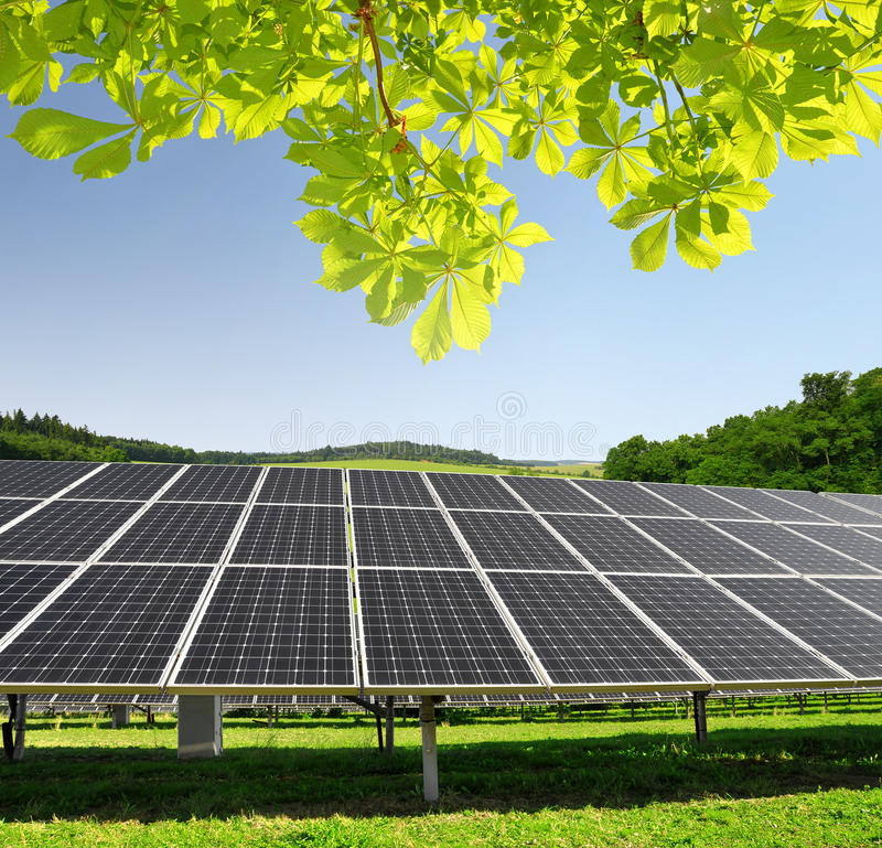 Objet à énergie solaire de panels image stock