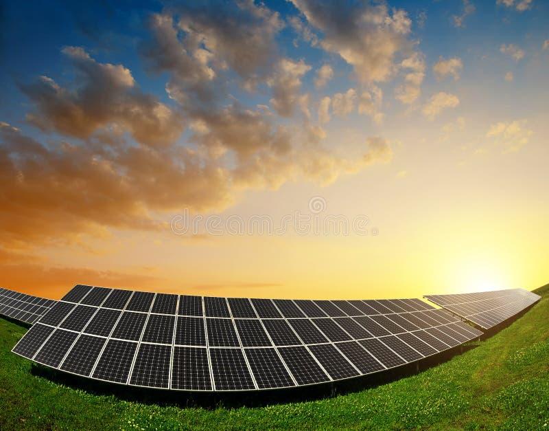 Objet à énergie solaire de panels photos libres de droits