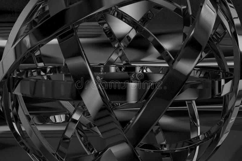 Objet abstrait en métal illustration stock