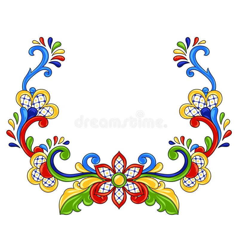 Objet décoratif traditionnel mexicain illustration libre de droits