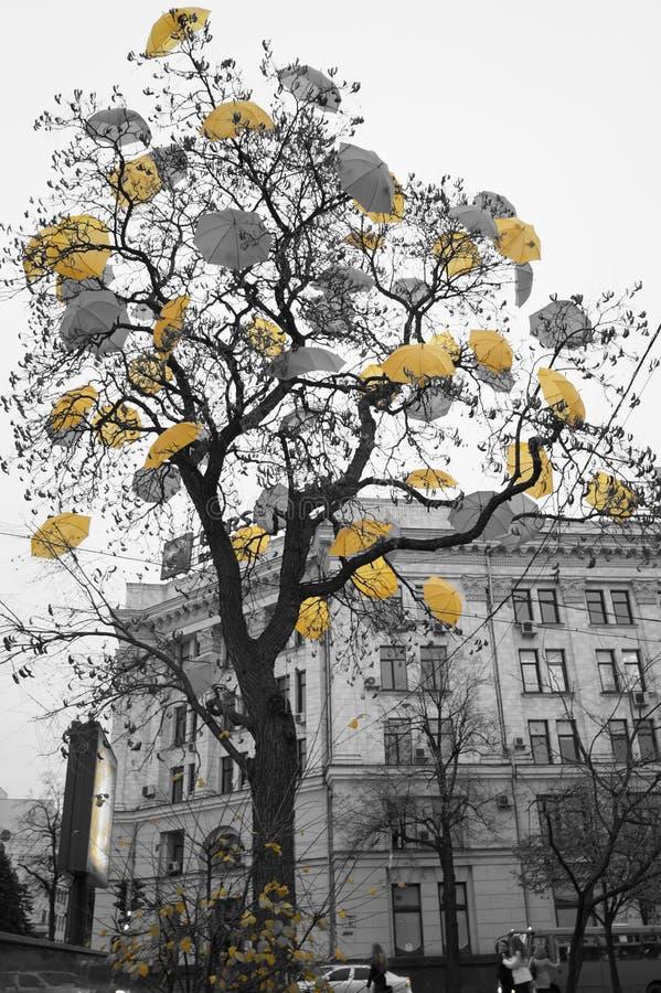 Objet d'art sur la rue centrale de la ville photographie stock libre de droits