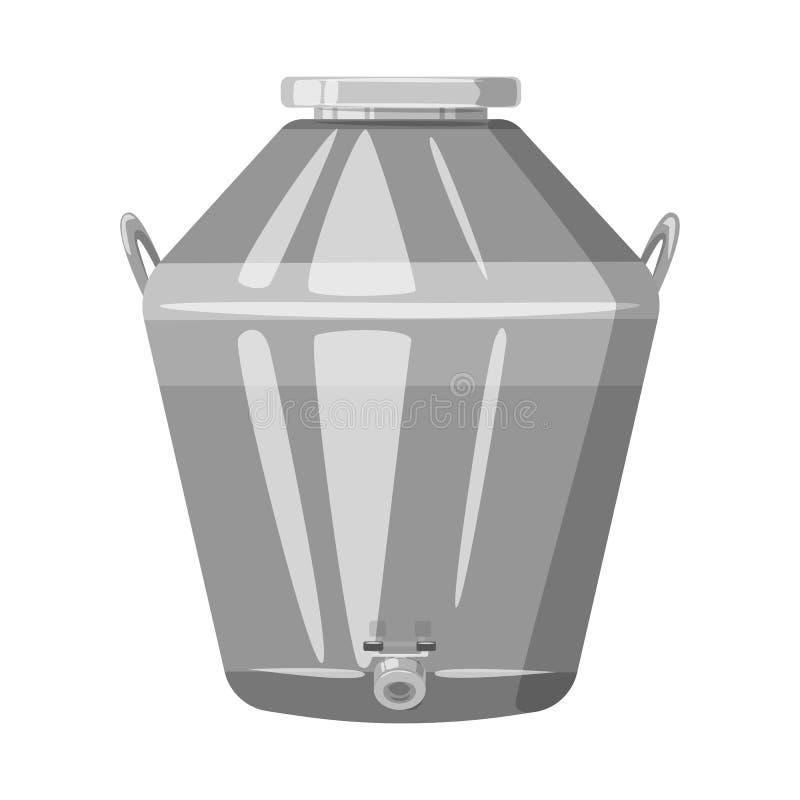 Objet d'isolement de distillerie et de symbole de processus Placez de la distillerie et du symbole boursier d'industrie pour le W illustration libre de droits