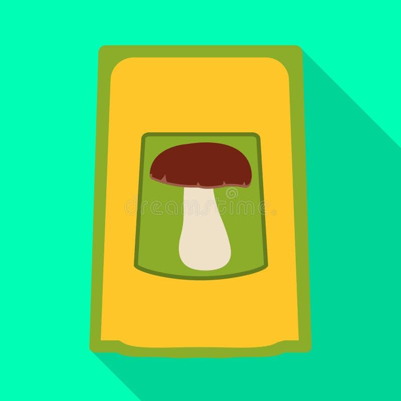 Objet d'isolement de l'assaisonnement et de l'icône de empaquetage Placez de l'assaisonnement et de l'icône végétale de vecteur p illustration libre de droits