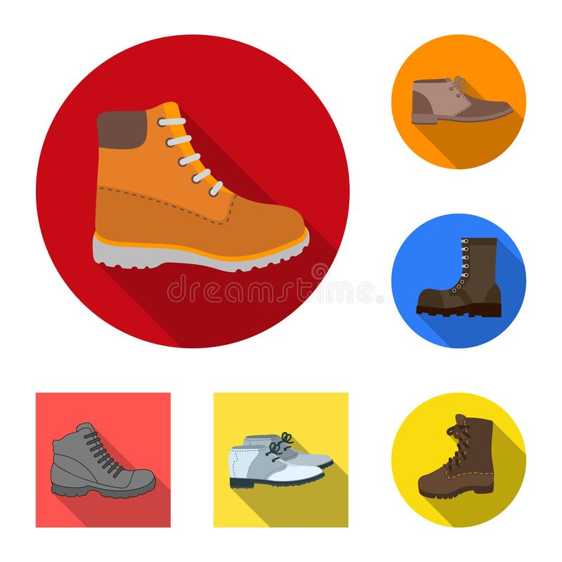 Objet d'isolement de l'icône en cuir et occasionnelle Placez de l'icône en cuir et formelle de vecteur pour des actions illustration libre de droits