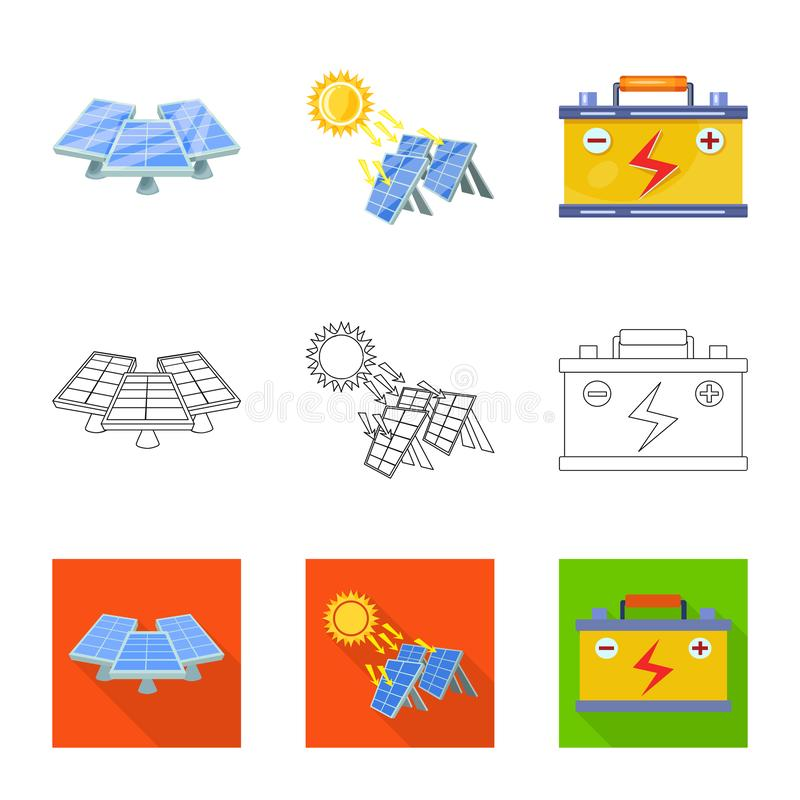 Objet d'isolement de logo d'innovation et de technologie Placez de l'ic?ne de vecteur d'innovation et de nature pour des actions illustration stock