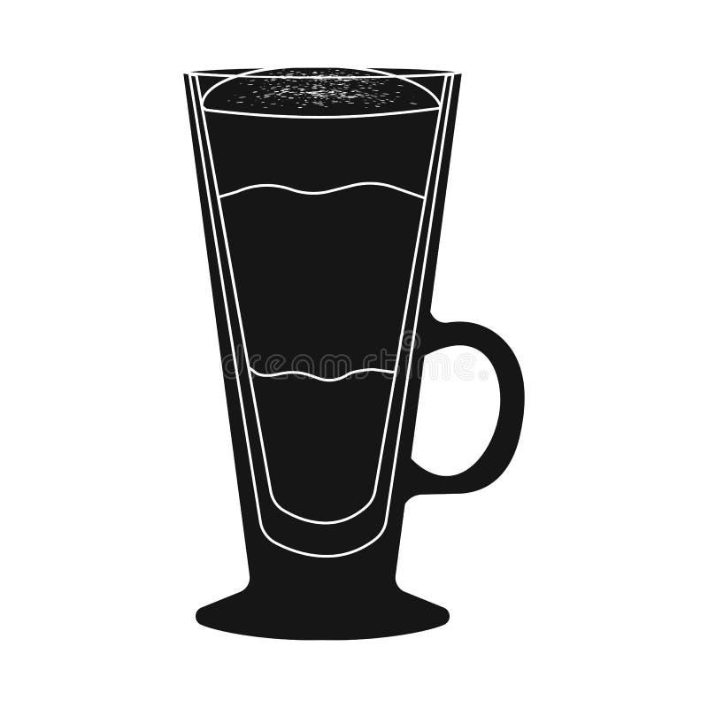 Objet d'isolement de logo de tasse et de dessert Collection d'icône de vecteur de tasse et de milk-shake pour des actions illustration de vecteur