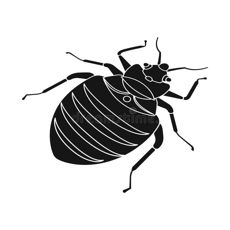 Objet d'isolement de scarabée et de symbole noir Placez du symbole boursier de scarabée et d'arthropode pour le Web illustration de vecteur