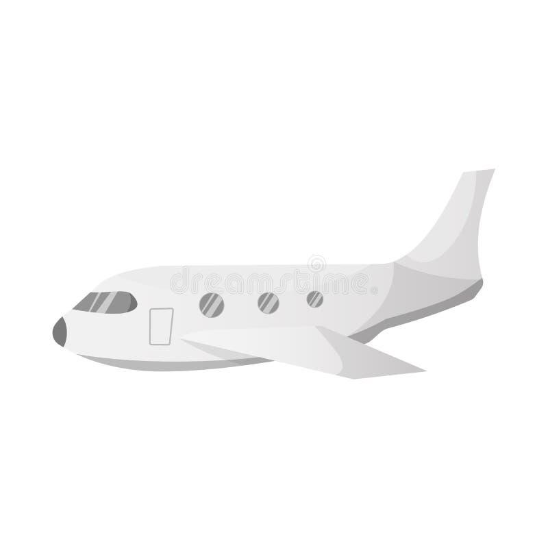Objet d'isolement de signe d'aéroport et d'avion Ensemble d'illustration courante de vecteur d'aéroport et d'avion illustration libre de droits