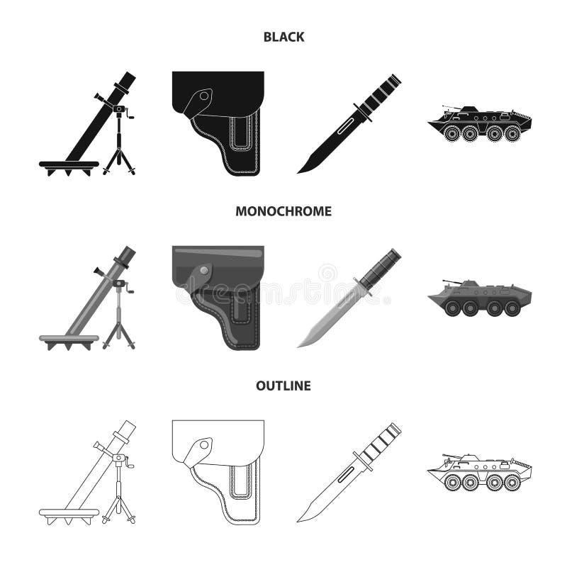 Objet d'isolement de signe d'arme et d'arme à feu Collection d'icône de vecteur d'arme et d'armée pour des actions illustration libre de droits