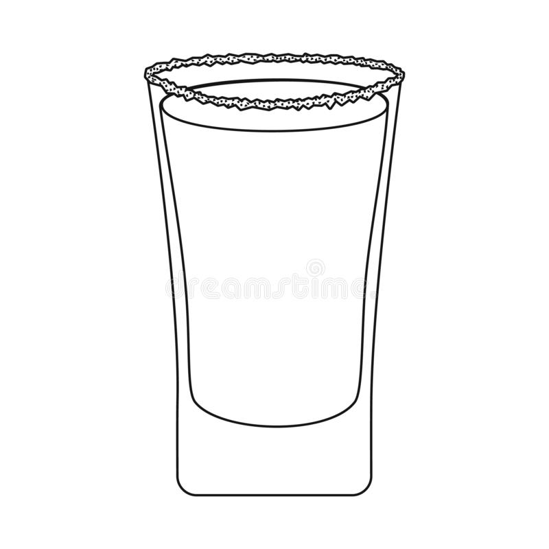Objet d'isolement de signe en verre et d'eau Collection de l'illustration courante en verre et claire de vecteur illustration stock