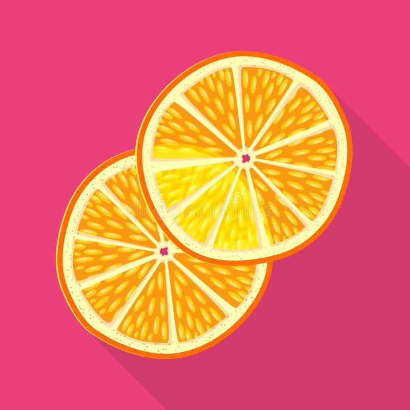 Objet d'isolement de signe orange et sec Collection de symbole boursier orange et juteux pour le Web illustration libre de droits