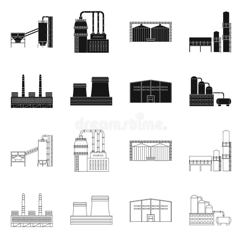 Objet d'isolement de signe de production et de structure Collection de production et d'illustration de vecteur d'action de techno illustration de vecteur