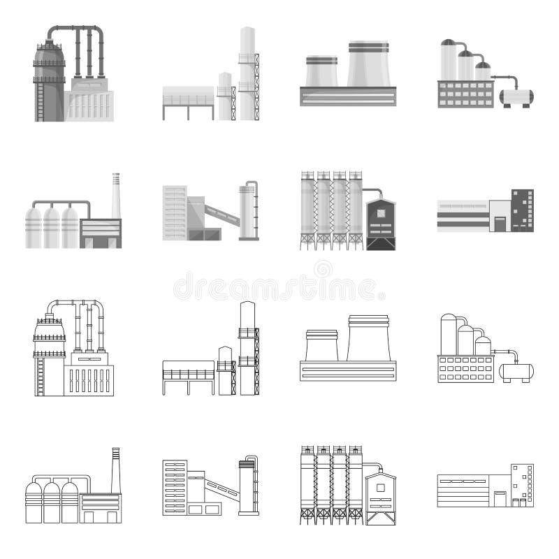 Objet d'isolement de signe de production et de structure Collection de production et d'illustration de vecteur d'action de techno illustration libre de droits