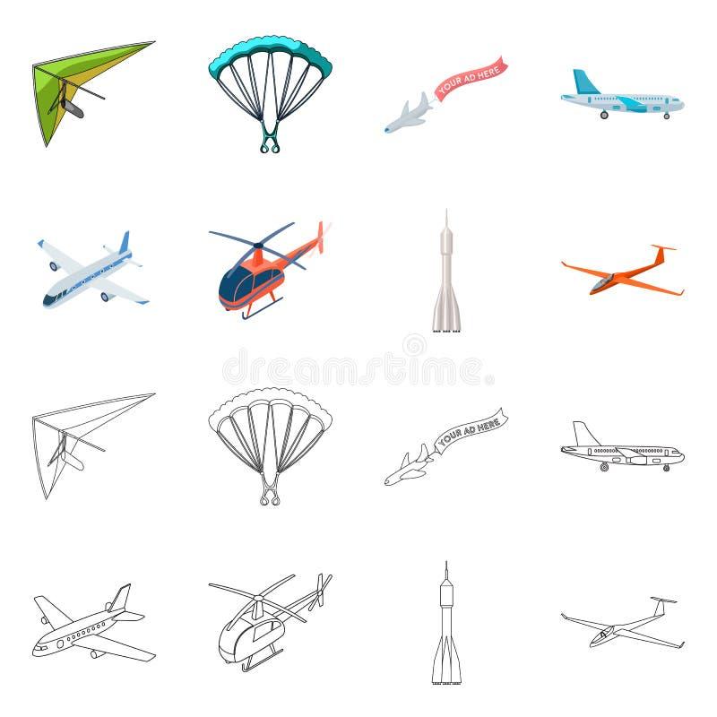 Objet d'isolement de signe de transport et d'objet Collection de transport et de symbole boursier de glissement pour le Web illustration stock